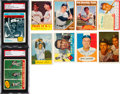 Baseball Cards:Lots, Signed 1950's - 1960's Baseball Hall of Famers Card Collection(34). ...