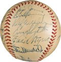 Baseball Collectibles:Balls, 1948 St. Louis Cardinals Team Signed Baseball. ...