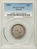 Coins of Hawaii , 1883 25C Hawaii Quarter XF40 PCGS. PCGS Population: (64/1816). NGCCensus: (31/1241). Mintage 242,600. ...