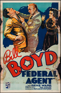 """Federal Agent (Republic, 1936). One Sheet (27"""" X 41""""). Crime"""