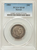 Coins of Hawaii , 1883 25C Hawaii Quarter XF45 PCGS. PCGS Population: (127/1689). NGCCensus: (48/1193). Mintage 242,600. ...