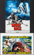 """Movie Posters:Adventure, Moby Dick & Other Lot (Warner Brothers, R-1976). French Petite(15.5"""" X 21"""") & Belgian (14"""" X 21.5""""). Adventure.. ... (Total:2 Items)"""