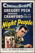 "Movie Posters:Adventure, Night People & Other Lot (20th Century Fox, 1954). One Sheet(27"" X 41"") & Three Sheet (41"" X 79""). Adventure.. ... (Total:2 Items)"