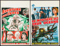 """Movie Posters:Adventure, The Jungle & Other Lot (Lippert, 1953). Belgians (2) (14"""" X21""""). Adventure.. ... (Total: 2 Items)"""
