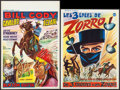 "Movie Posters:Serial, Cody of the Pony Express & Other Lot (Cobelcine, 1950s). Belgians (2) (14"" X 19"" & 14"" X 21""). Serial.. ... (Total: 2 Items)"