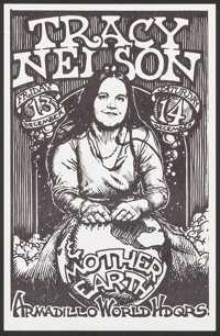 """Tracy Nelson & Mother Earth at the Armadillo (Armadillo, 1974). Concert Window Card (11"""" X 17""""). Rock and..."""
