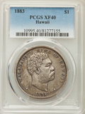 Coins of Hawaii , 1883 $1 Hawaii Dollar XF40 PCGS. PCGS Population: (174/481). NGCCensus: (67/303). Mintage 46,348. ...