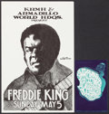 "Movie Posters:Rock and Roll, Freddie King & Other Lot (Armadillo World Headquarters, 1974).Poster (11"" X 17"") & Unused Postcard (5"" X 8""). Blues.. ...(Total: 2 Items)"