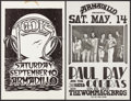 "Movie Posters:Rock and Roll, Paul Ray and the Cobras with Stevie Ray Vaughan & Other Lot(Armadillo World Headquarters, 1977). Concert Posters (2) (11"" X...(Total: 2 Items)"