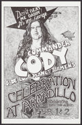 "Movie Posters:Rock and Roll, Commander Cody and His Lost Planet Airmen at the Armadillo (Armadillo, 1974). Concert Window Card (11"" X 17""). Rock and Roll..."