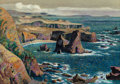 Fine Art - Work on Paper:Watercolor, Millard Sheets (American, 1907-1989). California Coastline,possibly Elk, California. Watercolor on paper. 21-3/4 x 30 i...