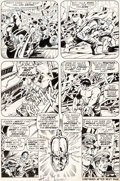 Original Comic Art:Panel Pages, Herb Trimpe and Sam Grainger Incredible Hulk #139 Story Page15 Original Art (Marvel, 1971)....