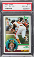 Baseball Cards:Singles (1970-Now), 1983 Topps Tony Gwynn #482 PSA Gem Mint 10....
