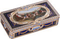 Silver Smalls:Snuff Boxes, A Georges Rémond Swiss 18K Gold and Enameled Snuff Box, Geneva,Switzerland, circa 1810. Marks: GRG (crowned). 0-3/4 h x...