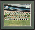Football Collectibles:Photos, 1964 New York Jets Andover Press (Montreal) Rare Poster....