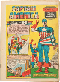 Captain America Comics #1 (Timely, 1941) Condition: Coverless