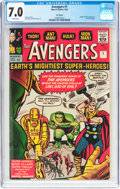 Silver Age (1956-1969):Superhero, The Avengers #1 UK Edition (Marvel, 1963) CGC FN/VF 7.0 Whitepages....