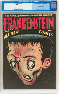 Frankenstein Comics #1 Vancouver Pedigree (Prize, 1945) CGC NM- 9.2 White pages