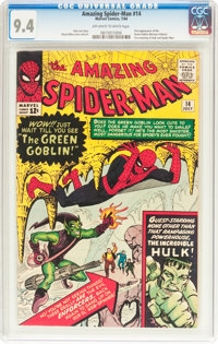 The Amazing Spider-Man #14 (Marvel, 1964) CGC NM 9.4 Off-white to white pages
