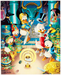Carl Barks The Stone That Turns All Metals Gold Signed Limited Edition Lithograph Print #261/350 (Another Rainbow