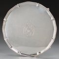 Silver & Vertu:Hollowware, A John Schofield George III Silver Footed Salver, London, England, circa 1778. Marks: (lion passant), (crowned leopard), c...