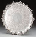 Silver Holloware, British:Holloware, A John Hutson George III Silver Footed Salver, London, England,circa 1793. Marks: (lion passant), (crowned leopard), S,...