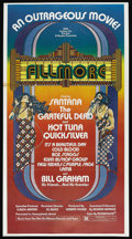 "Movie Posters:Rock and Roll, Fillmore (20th Century Fox, 1972). Three Sheet (41"" X 80""). Rockand Roll. ..."