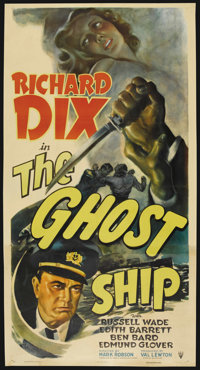 "The Ghost Ship (RKO, 1943). Three Sheet (41"" X 81""). Horror"