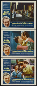 "Movie Posters:Adventure, The Adventures of Marco Polo (Samuel Goldwyn, R-1954). Lobby Cards(3) (11"" X 14""). Adventure. ... (Total: 3 Items)"