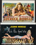 "Movie Posters:Foreign, The Nights of Lucretia Borgia & Other Lot (Belga, 1960). Belgians (2) (14"" X 21.5"", 14"" X 23.5""). Foreign.. ... (Total: 2 Items)"