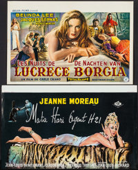 "The Nights of Lucretia Borgia & Other Lot (Belga, 1960). Belgians (2) (14"" X 21.5"", 14"" X 23.5&qu..."