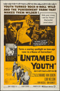 "Movie Posters:Exploitation, Untamed Youth (Warner Brothers, 1957). One Sheet (27"" X 41"").Exploitation.. ..."