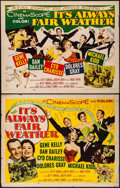 """Movie Posters:Musical, It's Always Fair Weather (MGM, 1955). Half Sheets (2) (22"""" X 28"""") Both Styles. Musical.. ... (Total: 2 Items)"""