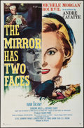 "Movie Posters:Foreign, The Mirror Has Two Faces (MGM, 1958). One Sheet (27"" X 41""). Foreign.. ..."
