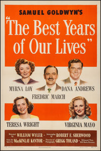 "The Best Years of Our Lives (RKO, 1946). One Sheet (27"" X 41"") Style A. Drama"