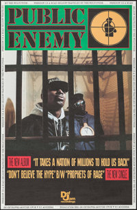 Public Enemy: It Takes a Nation of Millions to Hold Us Back (Def Jam Recordings, 1988). Album Posters (5) Identical (30&...