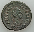 Ancients:Roman Imperial, Ancients: Aelia Flacilla, wife of Theodosius I (Augusta, AD 379-386/8). Æ2 or maiorina (4.85 gm)....