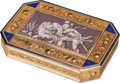 Silver Smalls:Snuff Boxes, A Swiss 18K Gold and Enamel Snuff Box, likely Geneva, Switzerland,circa 1790. Marks: ET, (French import marks to bezel)...
