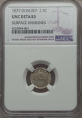 Dominican Republic, Dominican Republic: Republic 2-1/2 Centavos 1877 UNC Details (Surface Hairlines) NGC,...