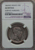 Mexico, Mexico: Maximilian 50 Centavos 1866-Mo AU Details (SurfaceHairlines) NGC,...