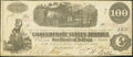 Confederate Notes:1862 Issues, T39 $100 1862 Issued at San Antonio, TX.. ...
