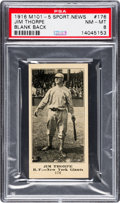Baseball Cards:Singles (Pre-1930), 1916 M101-5 Blank Back (Sporting News) Jim Thorpe #176 PSA NM-MT 8 - Pop Two, One Higher! ...