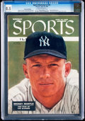 Baseball Collectibles:Publications, 1956 Mickey Mantle Sports Illustrated CGC 8.5....