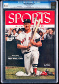 Baseball Collectibles:Publications, . 1955 Ted Williams Sports Illustrated CGC 9.4....