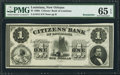 Obsoletes By State:Louisiana, New Orleans, LA - Citizens' Bank of Louisiana $1 Remainder G2. ...