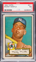 Baseball Cards:Singles (1950-1959), 1952 Topps Mickey Mantle #311 PSA NM 7....