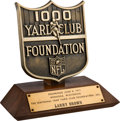 Football Collectibles:Others, 1971 NFL 1000 Yard Club Foundation Trophy Presented to Larry Brown....