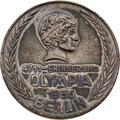 Miscellaneous Collectibles:General, 1936 Berlin Summer Olympics Silvered Iron Commemoration Medal....