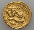 Ancients:Byzantine, Ancients: Heraclius (AD 610-641), with Heraclius Constantine. AVsolidus (21mm, 4.41 gm, 6h)....