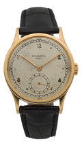 Timepieces:Wristwatch, Patek Philippe Fine Ref. 570 Large Calatrava Wristwatch Circa1950's. ...